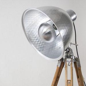 custom made tripod lamp